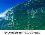 shorebreak surfing tube wave....   Shutterstock . vector #417887887