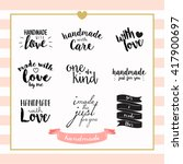 handmade with love typography... | Shutterstock .eps vector #417900697