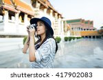 photographer travel sightseeing ... | Shutterstock . vector #417902083