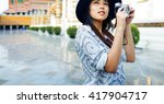 photographer travel sightseeing ... | Shutterstock . vector #417904717