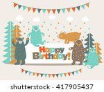 happy birthday   lovely vector... | Shutterstock .eps vector #417905437