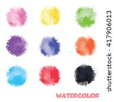 watercolor colorful elements ... | Shutterstock .eps vector #417906013