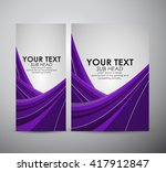 brochure business design ... | Shutterstock .eps vector #417912847