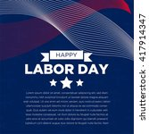 labor day logo template  | Shutterstock .eps vector #417914347