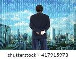 digital disruption concept... | Shutterstock . vector #417915973