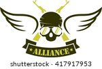 army logo template | Shutterstock .eps vector #417917953