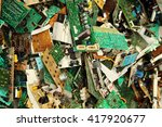 electronic circuits garbage as... | Shutterstock . vector #417920677