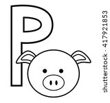 p for pig | Shutterstock . vector #417921853