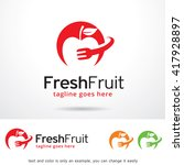 fresh fruit logo template... | Shutterstock .eps vector #417928897