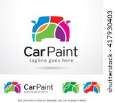 car paint logo template design... | Shutterstock .eps vector #417930403