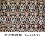 colorful batik sarong fabric... | Shutterstock . vector #417935797