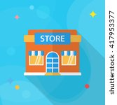 store icon  vector flat long... | Shutterstock .eps vector #417953377