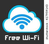 free wifi sign. wireless...