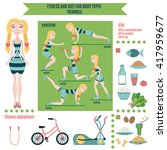 infographic  fitness and diet... | Shutterstock .eps vector #417959677