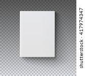 Blank Book Cover  Vector...