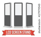 lcd screen floor stand. black... | Shutterstock .eps vector #417979543
