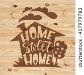 home sweet home lettering on...