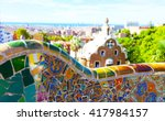 views from the park guell... | Shutterstock . vector #417984157