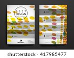 set of brochure  poster design... | Shutterstock .eps vector #417985477