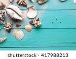 marine summer postcard.... | Shutterstock . vector #417988213