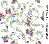 Floral Texture Pattern.seamles...