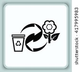 throw away the trash icon ... | Shutterstock .eps vector #417995983
