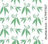 eucalyptus. seamless pattern.... | Shutterstock .eps vector #417997507