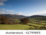 pastoral welsh countryside on...