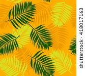 seamless pattern with palm... | Shutterstock .eps vector #418017163