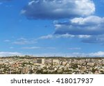view of the part of yerevan... | Shutterstock . vector #418017937