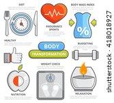 body transformation fitness... | Shutterstock .eps vector #418018927