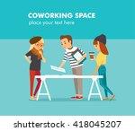 creative people working in co... | Shutterstock .eps vector #418045207