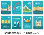 set of norway country ornament... | Shutterstock .eps vector #418062673