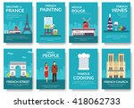 set of france country ornament... | Shutterstock .eps vector #418062733