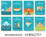 set of india country ornament... | Shutterstock .eps vector #418062757