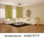 3d illustration of interior of... | Shutterstock . vector #418075777