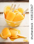 orange ice pops fresh summer...   Shutterstock . vector #418123267