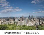 city view  montreal  quebec ... | Shutterstock . vector #418138177