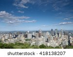 city view  montreal  quebec ... | Shutterstock . vector #418138207