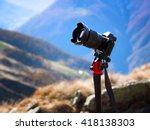 modern professional camera on a ... | Shutterstock . vector #418138303