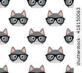 vector seamless pattern with...   Shutterstock .eps vector #418150063