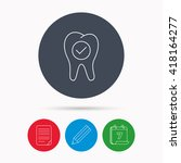 check tooth icon. stomatology...   Shutterstock .eps vector #418164277
