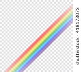 rainbow icon. shape line... | Shutterstock .eps vector #418173073