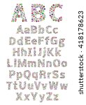 english alphabet. vector... | Shutterstock .eps vector #418178623