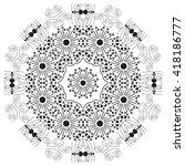 mandala black white. magic... | Shutterstock .eps vector #418186777