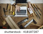 craftsman profession occupation ... | Shutterstock . vector #418187287