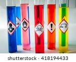 chemical hazard pictograms... | Shutterstock . vector #418194433