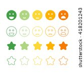 Smiley Faces Rating Icons....