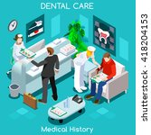 dental clinic dentist patient... | Shutterstock .eps vector #418204153