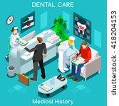 dental clinic dentist patient... | Shutterstock .eps vector #418204153